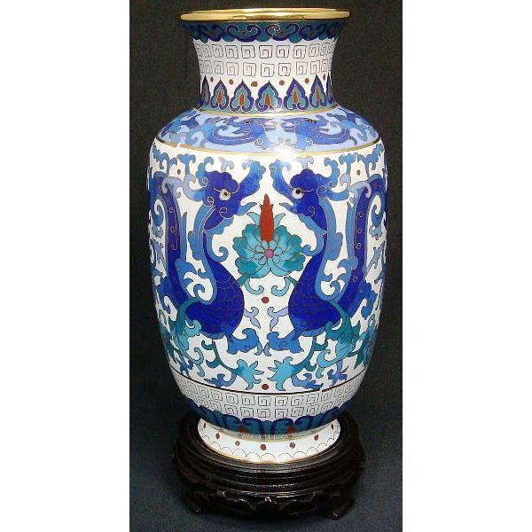七宝焼雲龍花瓶