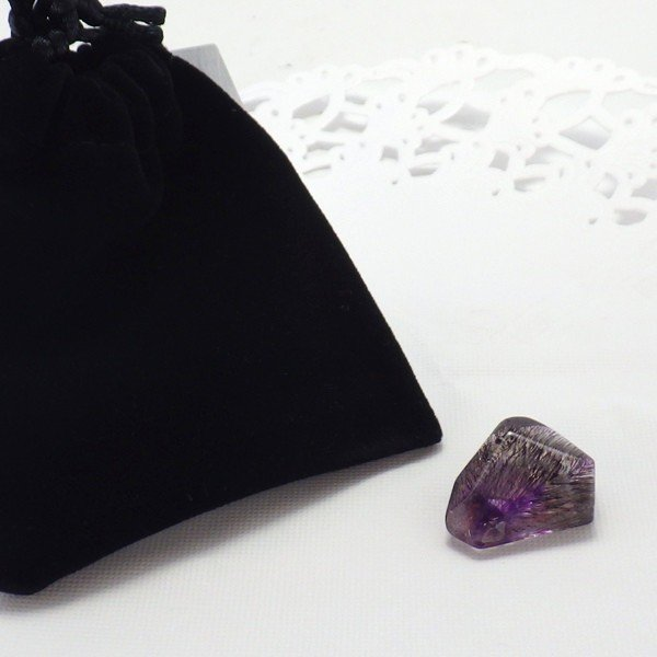 パワーストーン 天然石 スーパーセブン 石 ブロック ルース 5g Bタイプ 黒巾着付 風水グッズ 開運グッズ|kouyuu|07