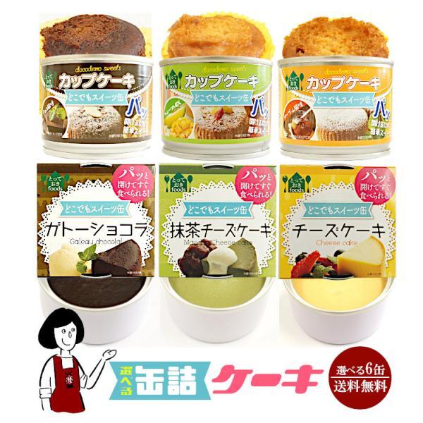6種類から6缶選べる缶詰ケーキ 防災食 非常食 災害備蓄用 長期保存 震災用