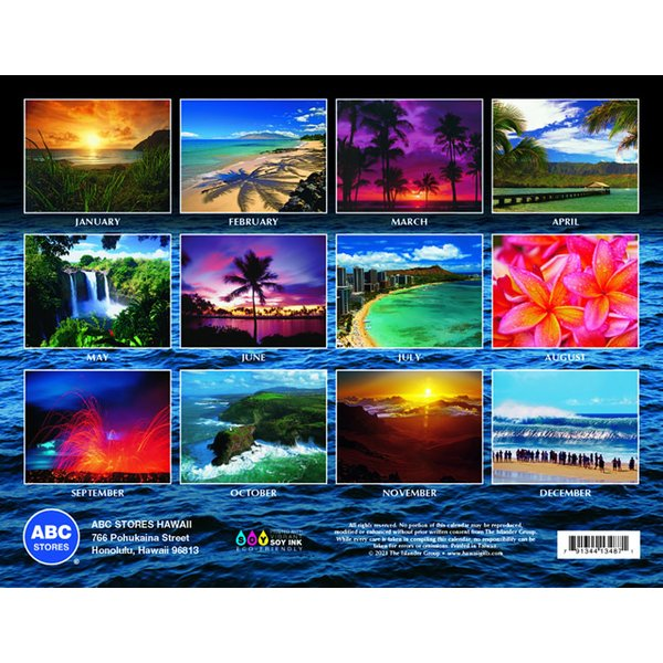 送料無料! 2020年 ハワイカレンダー Hawaiian Pictorial ハワイアンピクトリアル 2020 ハワイアン雑貨 koyomi10 02