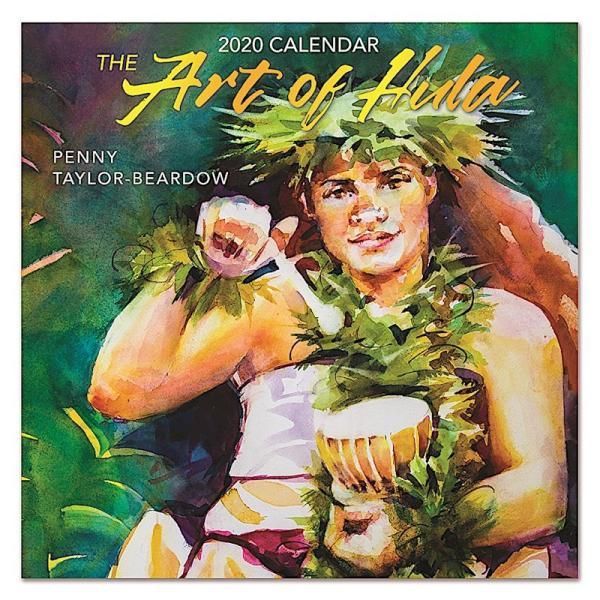 送料無料!2020年 アイランドヘリテイジ社製 ハワイカレンダー 2020 The Art of Hula フラの美 koyomi10