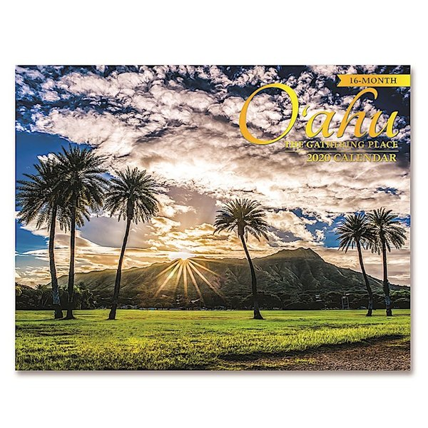 送料無料! 2020年 アイランドヘリテイジ社製 ハワイカレンダー (16カ月カレンダー) O'ahu The Gathering Place  オアフの景色 2020 ハワイアン雑貨|koyomi10