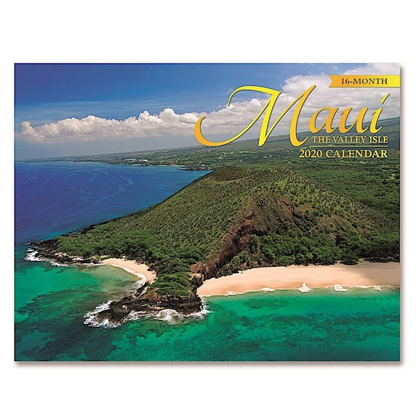 送料無料! 2020年 アイランドヘリテイジ社製 ハワイ カレンダー (16カ月カレンダー) Maui The Valley Isle マウイ島 2020 ハワイアン雑貨|koyomi10