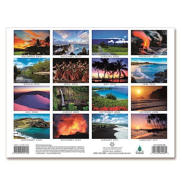 送料無料! 2020年 アイランドヘリテイジ社製 ハワイカレンダー (16カ月カレンダー) Hawai'i: The Big Island ハワイ島 2020 ハワイアン雑貨|koyomi10|02