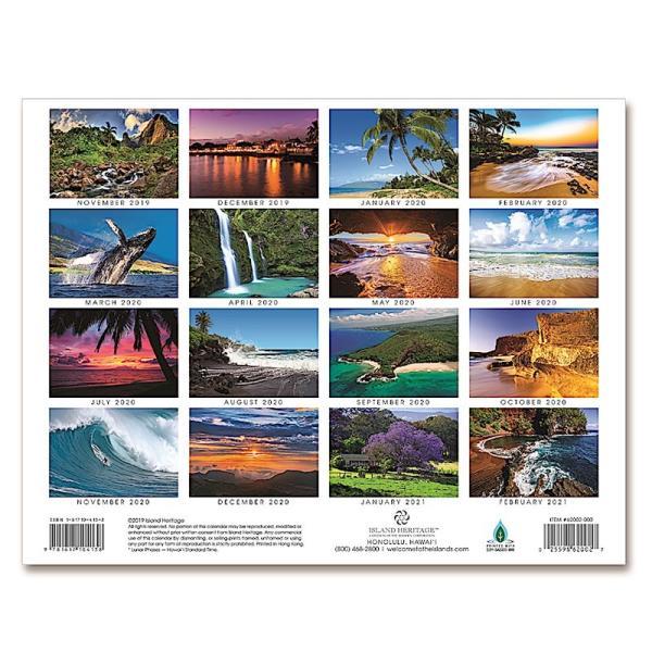 送料無料! 2020年 アイランドヘリテイジ社製 ハワイ カレンダー (16カ月カレンダー) Maui The Valley Isle マウイ島 2020 ハワイアン雑貨|koyomi10|02