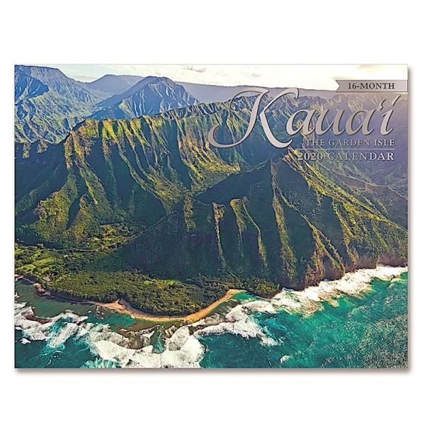 送料無料! 2020年 アイランドヘリテイジ社製 ハワイ カレンダー(16カ月カレンダー)Kaua'i The Garden Isle カウアイ島 2020 ハワイアン雑貨|koyomi10