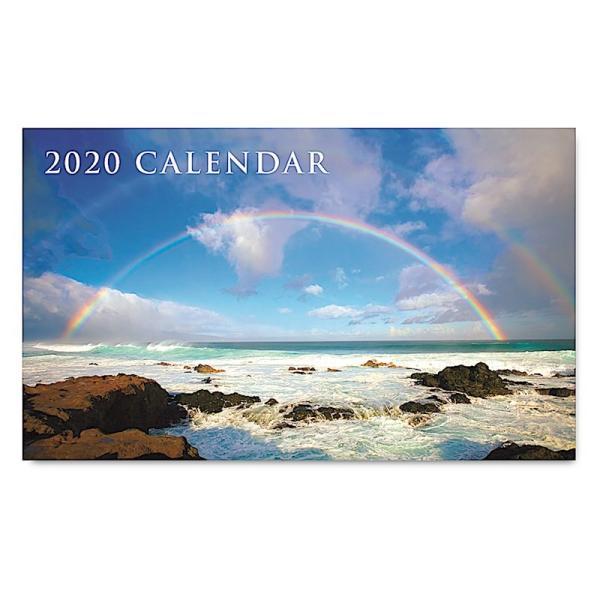 送料無料! 2020年ハワイカレンダー(ミニサイズ)ハワイアンダイアリー/スケジュール帳/マンスリーカレンダー Double Rainbow ダブル・レインボー|koyomi10