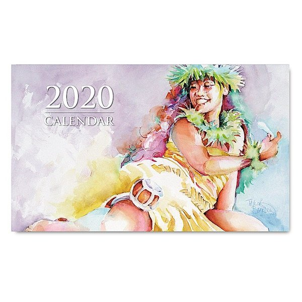送料無料! 2020年ハワイカレンダー(ミニサイズ)ハワイアンダイアリー/スケジュール帳/マンスリーカレンダー Hula Pahu  フラ・パフ|koyomi10
