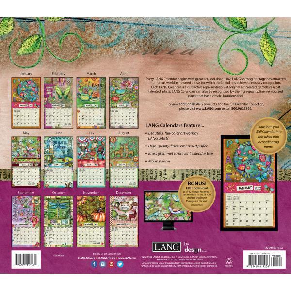 送料無料!2020年 ラング社カレンダー(Lang) Color My World  カラー・マイワールド Lisa Kaus koyomi10 02