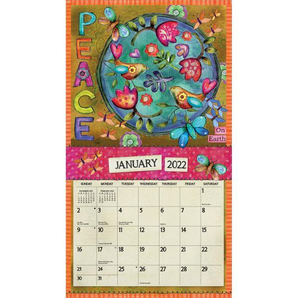 送料無料!2020年 ラング社カレンダー(Lang) Color My World  カラー・マイワールド Lisa Kaus koyomi10 03