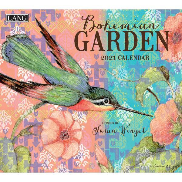 送料無料!2020年 ラング社カレンダー(Lang) Bohemian Garden  ボヘミアン・ガーデン Susan Winget|koyomi10
