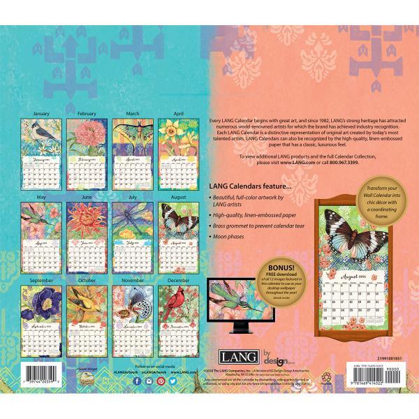 送料無料!2020年 ラング社カレンダー(Lang) Bohemian Garden  ボヘミアン・ガーデン Susan Winget|koyomi10|02