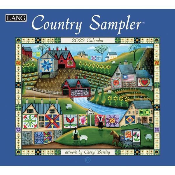 送料無料!2020年 ラング社カレンダー(Lang) Country Sampler  カントリー・サンプラー|koyomi10