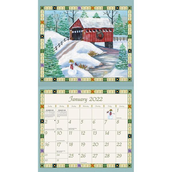 送料無料!2020年 ラング社カレンダー(Lang) Country Sampler  カントリー・サンプラー|koyomi10|03