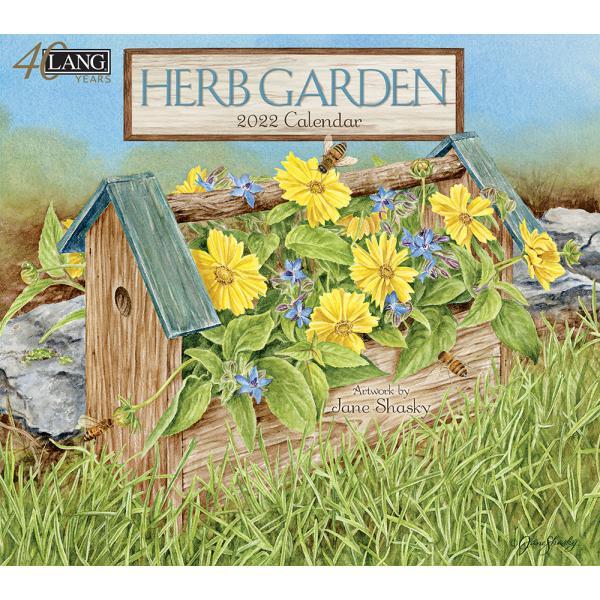 送料無料!2020年 ラング社カレンダー(Lang) Herb Garden   ハーブ・ ガーデン Jane Shasky|koyomi10
