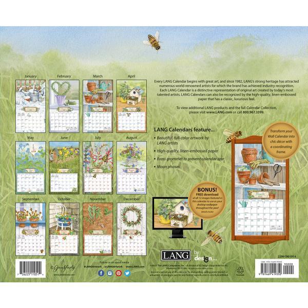 送料無料!2020年 ラング社カレンダー(Lang) Herb Garden   ハーブ・ ガーデン Jane Shasky|koyomi10|02