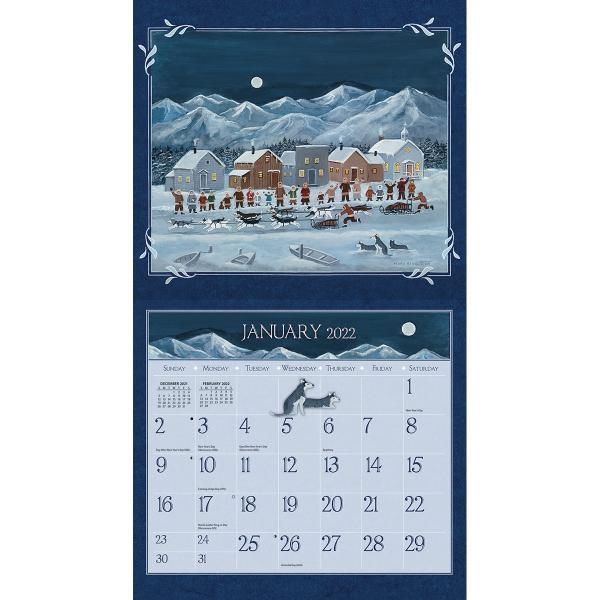 (カバーにダメージあり)送料無料!2020年 ラング社カレンダー The Lang Folk Art  ラング・フォーク・ アート Mary Singleton|koyomi10|03