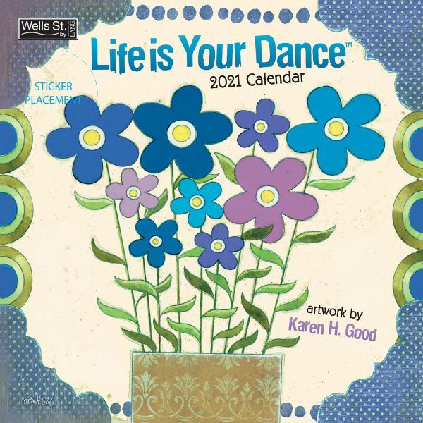 送料無料!2020年 ラング社カレンダー(Lang) 31x31cm Life Is Your Dance ライフ・イズ・ユア・ダンス Karen H. Good|koyomi10