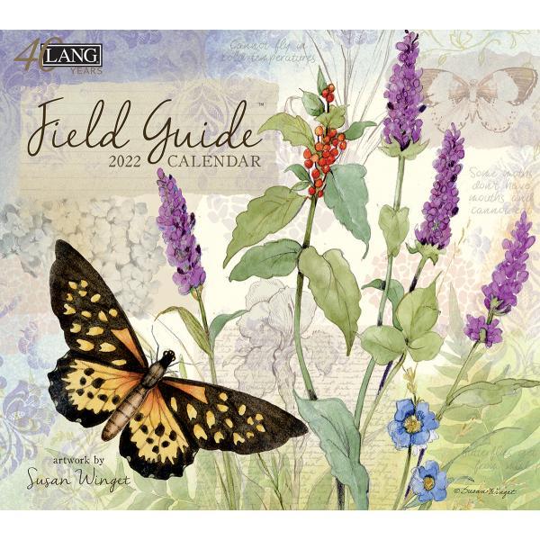 送料無料!2020年 ラング社カレンダー(Lang) Field Guide  フィールド・ガイド Susan Winget koyomi10