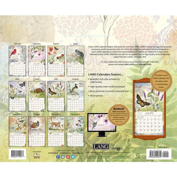 送料無料!2020年 ラング社カレンダー(Lang) Field Guide  フィールド・ガイド Susan Winget koyomi10 02
