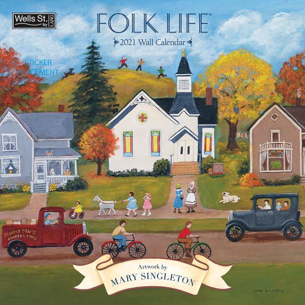 送料無料!2020年 ラング社カレンダー(Lang) 31x31cm Folk Life フォーク・ライフ|koyomi10