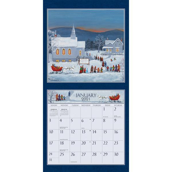 送料無料!2020年 ラング社カレンダー(Lang) 31x31cm Folk Life フォーク・ライフ|koyomi10|03