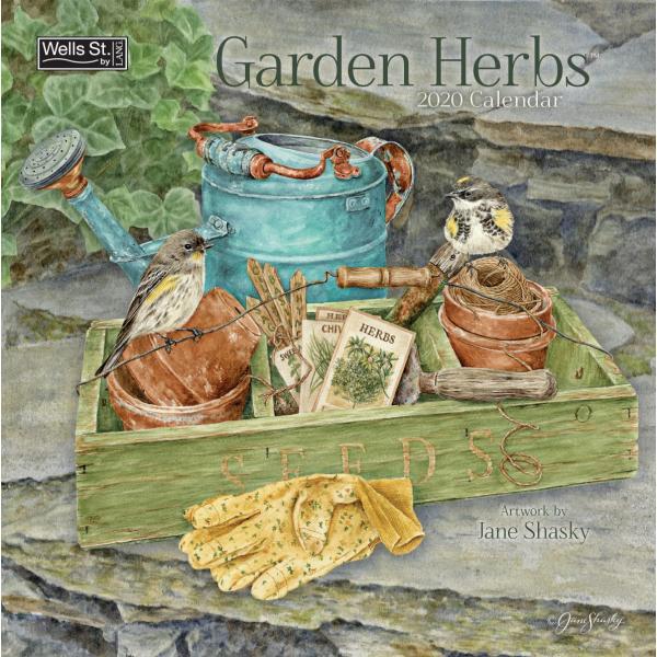 送料無料!2020年 ラング社カレンダー(Lang) 31x31cm Garden Herbs ガーデン・ハーブ|koyomi10