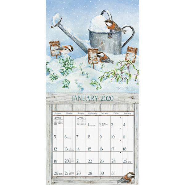 送料無料!2020年 ラング社カレンダー(Lang) 31x31cm Garden Herbs ガーデン・ハーブ|koyomi10|02