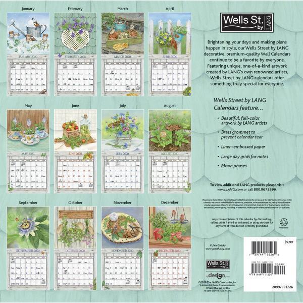 送料無料!2020年 ラング社カレンダー(Lang) 31x31cm Garden Herbs ガーデン・ハーブ|koyomi10|03