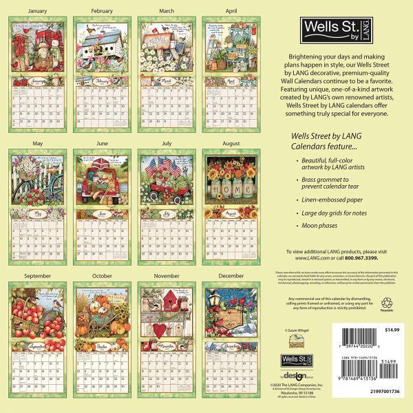 送料無料!2020年 ラング社カレンダー(Lang) 31x31cm Blessings ブレッシングス koyomi10 02