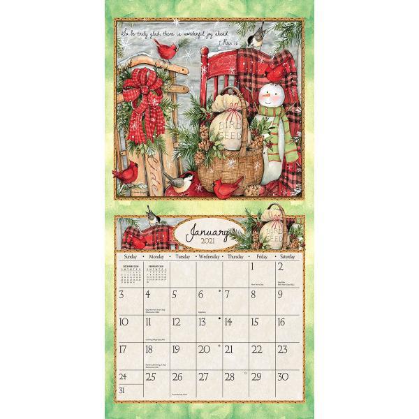 送料無料!2020年 ラング社カレンダー(Lang) 31x31cm Blessings ブレッシングス koyomi10 03