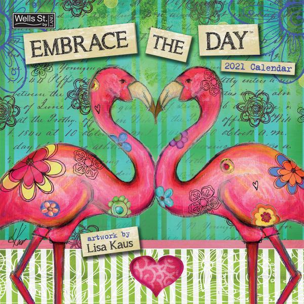 送料無料!2020年 ラング社カレンダー(Lang) 31x31cm Embrace the Day エンブレス・ザ・デイ Lisa Kaus|koyomi10