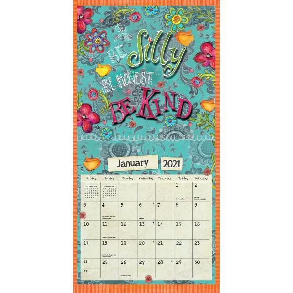 送料無料!2020年 ラング社カレンダー(Lang) 31x31cm Embrace the Day エンブレス・ザ・デイ Lisa Kaus|koyomi10|03