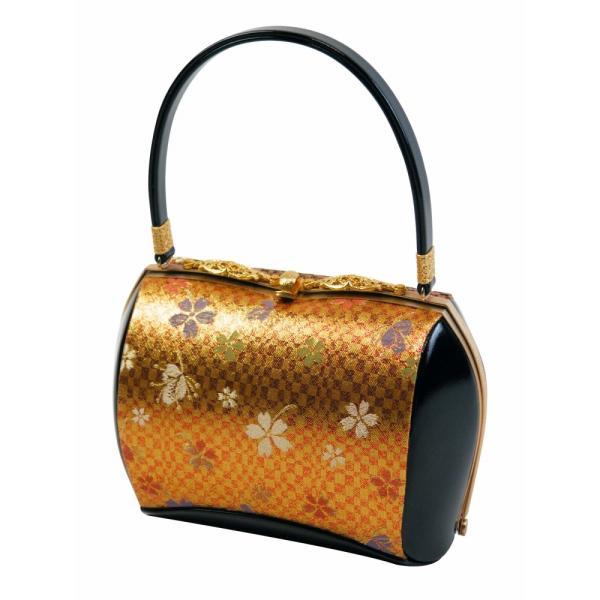 振袖用 きものバッグ 帯地・合皮 和装バッグ ハンドバッグ bb-12