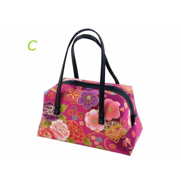 花和 小紋 ミニボストン ハンドバッグ 日本製 和柄 全3柄 ki-479