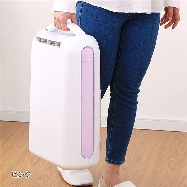 コンパクト 衣類乾燥除湿機 〔ピンク〕 デシカント式 16.5cm×32.5cm×51cm 重さ約4.4kg 〔リビング ダイニング〕