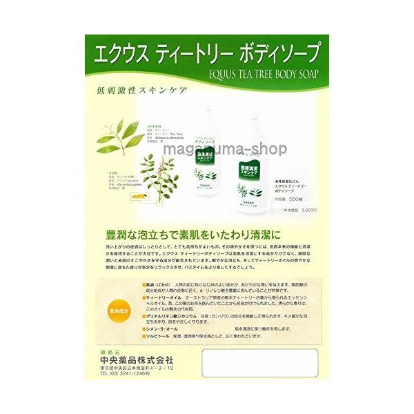 エクウス ティートリー ボディソープ550ml 1個 中央薬品 低刺激性スキンケア|kozukata-m|02