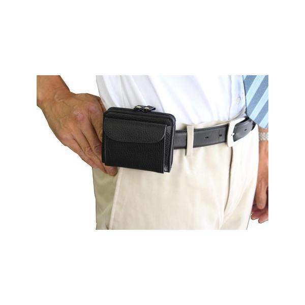 日本製 牛革製ベルトパース/ベルトポーチ財布 ベルト装着 ・財布 ew-03