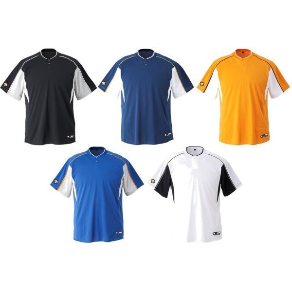 デサント DESCENTE 野球ウェア ユニセックス 2ボタンベースボールシャツ DB104B 2019FW