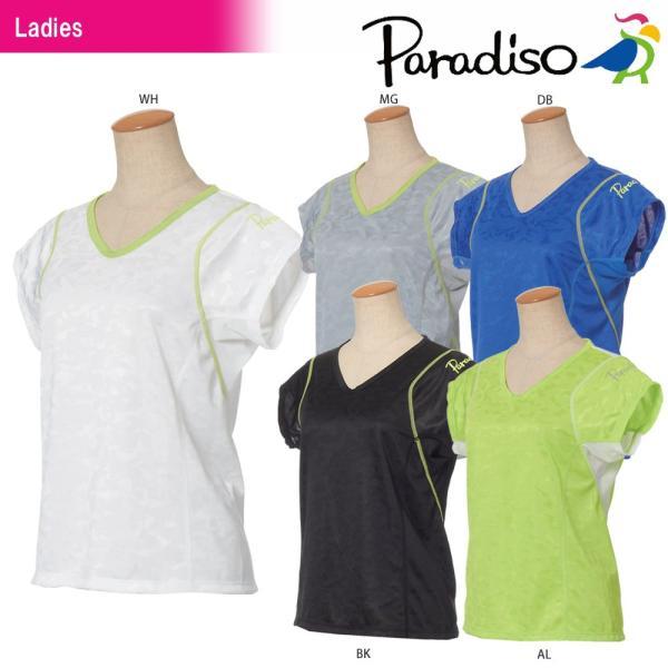 パラディーゾ PARADISO テニスウェア レディース 半袖ゲームシャツ JCL61A 2018SS[ポスト投函便対応]|kpi