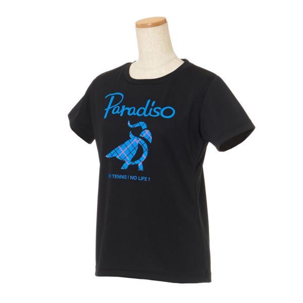 パラディーゾ PARADISO テニスウェア レディース 半袖シャツ KCL20A 2018FW[ポスト投函便対応] kpi 02