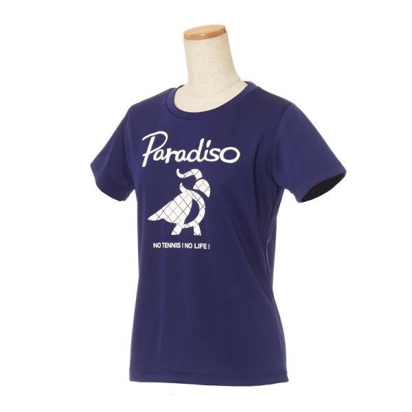 パラディーゾ PARADISO テニスウェア レディース 半袖シャツ KCL20A 2018FW[ポスト投函便対応] kpi 03