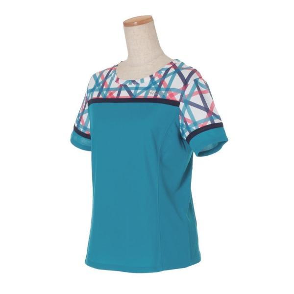 パラディーゾ PARADISO テニスウェア レディース 半袖シャツ QCL01A 2019FW [ポスト投函便対応]|kpi|04
