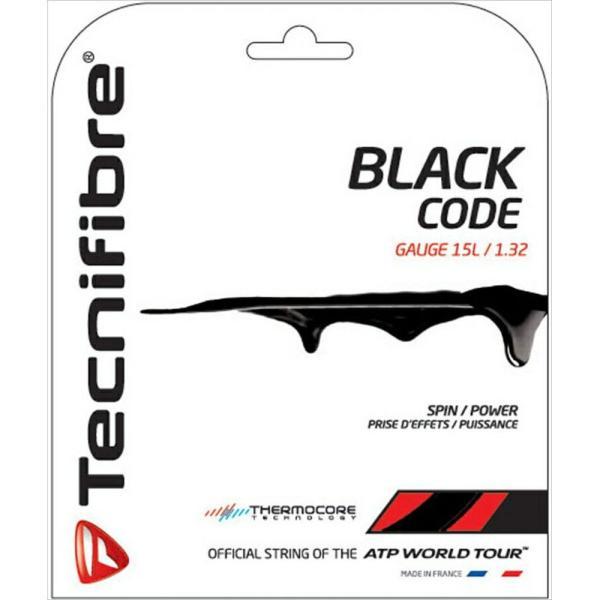 Tecnifibre テクニファイバー 「BLACK CODE ブラックコード  TFG506」硬式テニスストリング ガット [ポスト投函便対応]|kpi