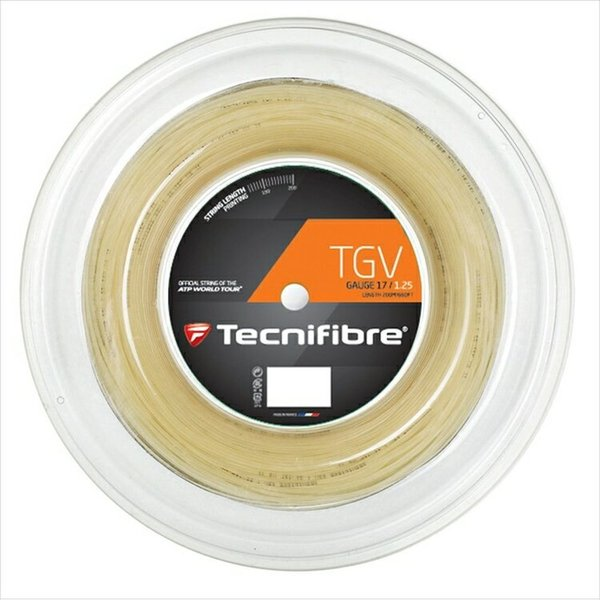 Tecnifibre テクニファイバー 「TGV ティージーブイ  200mロール TFR906」硬式テニスストリング ガット|kpi