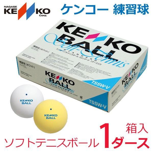 ケンコー 練習球 ソフトテニスボール 1ダース TSSWV|kpi