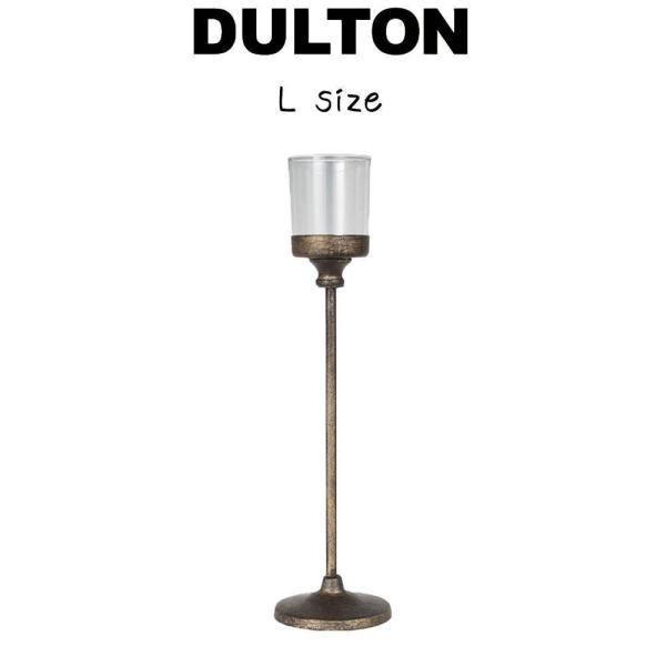【アイアン キャンドル スタンド L】 ダルトン DULTON キャンドルスタンド キャンドル立て キャンドルホルダー 蝋燭立て ロウソク立て スチール ガラス