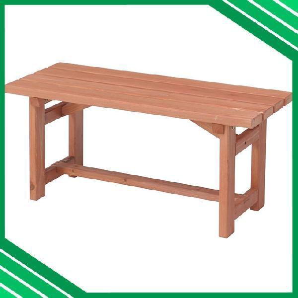 天然木 ガーデンベンチ 90cm ベンチ 長椅子 長イス ベンチチェア ガーデンチェア ガーデンチェアー 木製 ベランダ テラス シンプル 縁側 背もたれ無し