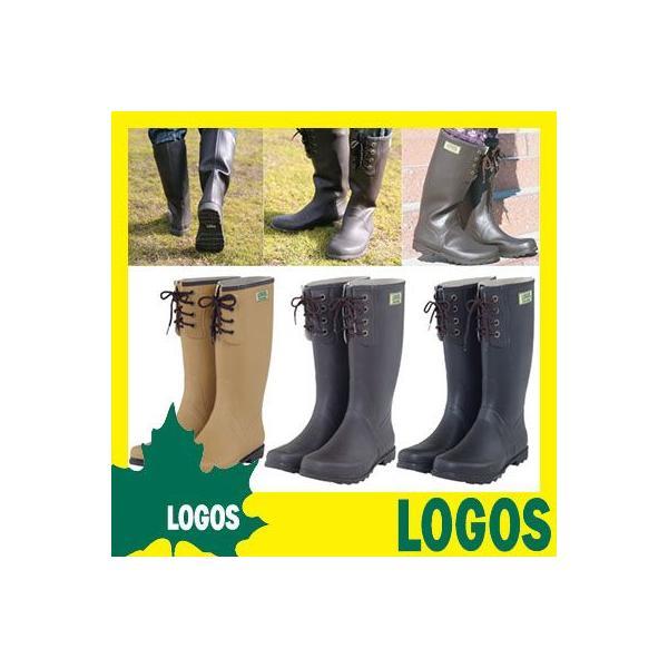 長靴 ロゴス LOGOS ECOブーツ レインブーツ 雨具 ブーツ レースアップブーツ ガーデンブーツ 天然ゴム おしゃれ メンズ レディース ガーデニング