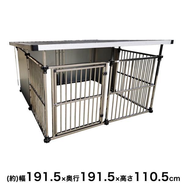ステンレス製 屋外用 ペットケージ 外用 ペットゲージ 犬 ゲージ ケージ 犬 サークル ケージ ペットサークル ウッディサークル 猫 にわとり